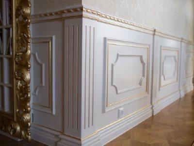 Стеновые панели Буазери с патиной